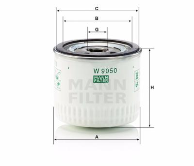 W9050 - Filtro de Combustible Mann Filter
